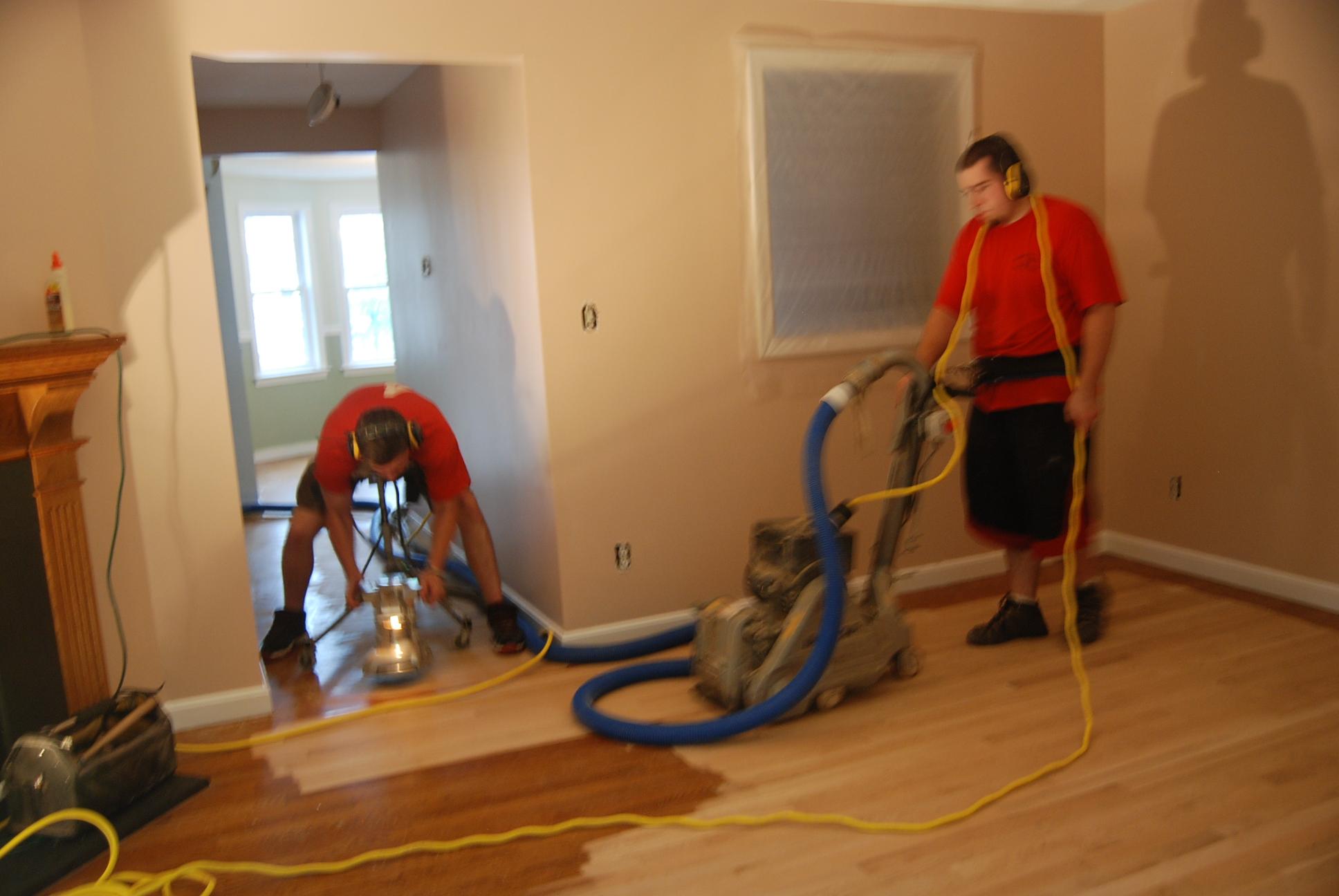 Dustless floor sanding nh dust less floor sanding in nh for Commercial wood flooring